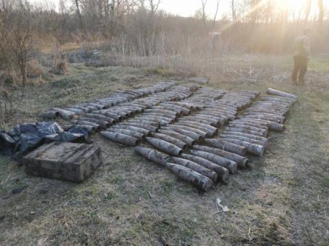 Понад 160 артснарядів знайшли на териториї туристичної бази на Луганщині