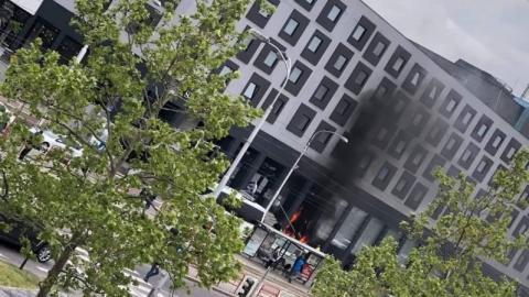 У центрі Братислави сталася пожежа у готелі