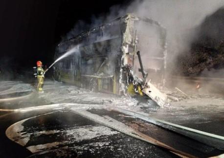 У Польщі згорів автобус Київ-Прага, близько 70 українців евакуювали