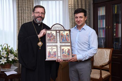 Зеленський зустрівся з главою УГКЦ і представниками Ради рабинів України