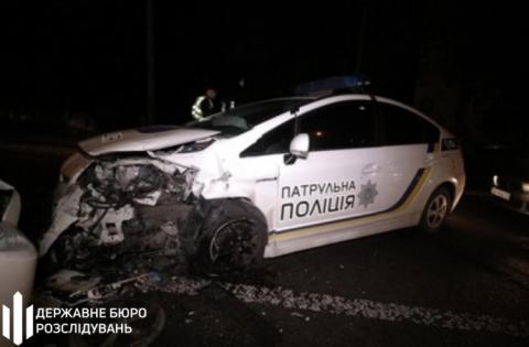 У Києві сталася ДТП за участю поліцейського авто, є постраждалі