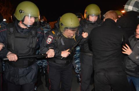 Протести у Єкатеринбурзі: ОМОН побився з учасниками акції, більше 40 затриманих