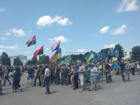 Харків: Проти партії Кернеса і Труханова - протестують, пам