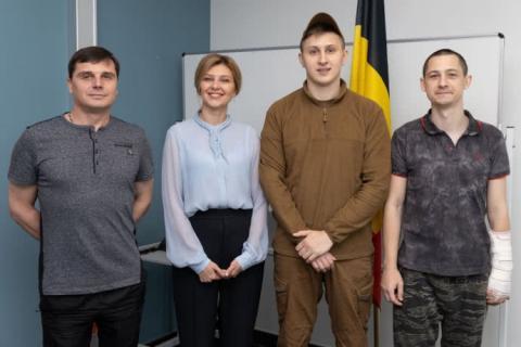 Дружина Зеленського приїхала до українських військових у Брюсселі