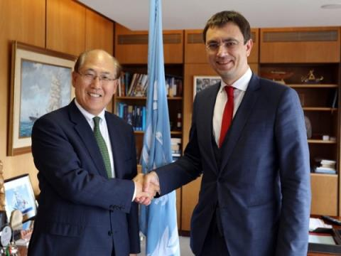 Володимир Омелян провів зустріч із Генеральним Секретарем Міжнародної Морської Організації Кітаком Лімом
