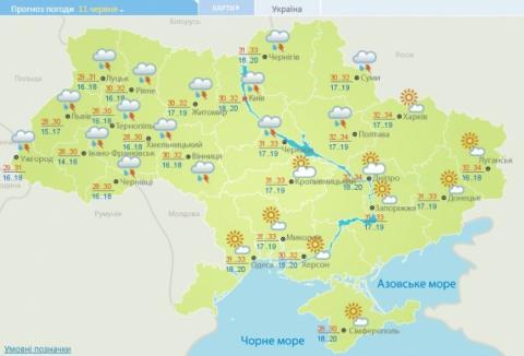 На початку тижня Україну заллє і прогріє до +34