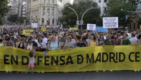 На вулиці Мадрида вийшли тисячі протестувальників