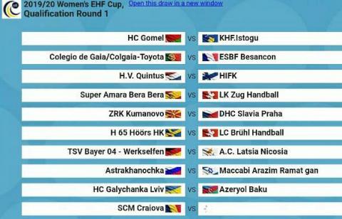 «Галичанка» отримала суперника у першому раунді Кубка ЄГФ з гандболу