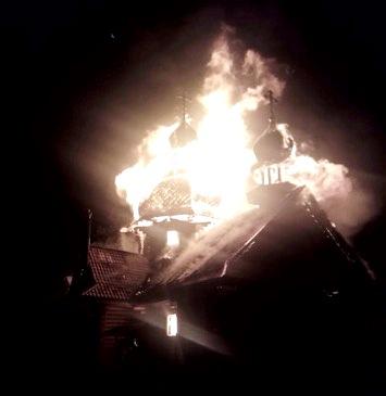 У Кривому Розі згоріла церква УПЦ