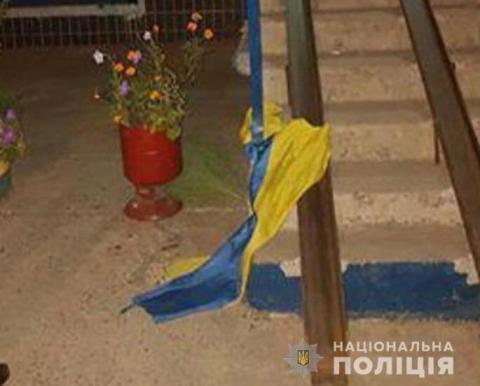 За наругу над прапором українець відсидить 3 роки тюрми