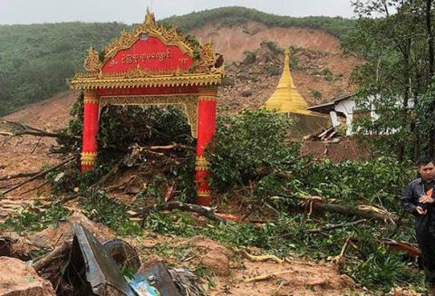 Кількість жертв зсуву в М'янмі перевищила 40