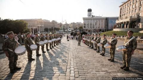 День Незалежності по-новому: у центрі Києва провели репетицію урочистостей