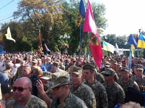Києвом йде Марш захисників, організований ветеранами бойових дій