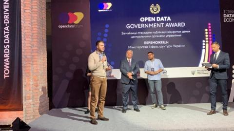 Міністерство інфраструктури - переможець у номінації OPEN DATA GOVERNMENT AWARD