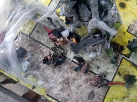 Військові збили безпілотник, який вибухнув під час падіння на землю