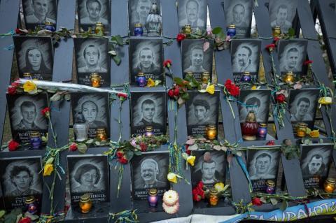 Глава держави разом з дружиною вшанували пам'ять Героїв Небесної Сотні