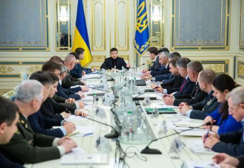Під головуванням Президента відбувається засідання РНБО