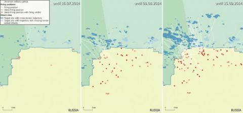 Bellingcat: РФ щонайменше 150 разів обстріляла територію України влітку 2014