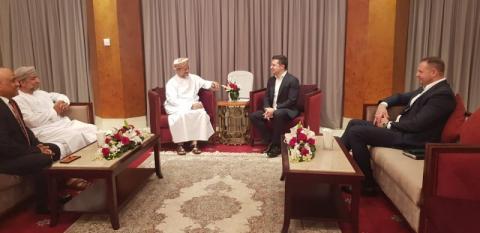 Володимир Зеленський обговорив з виконавчим президентом Державного генерального резервного фонду Оману активізацію інвестиційної співпраці