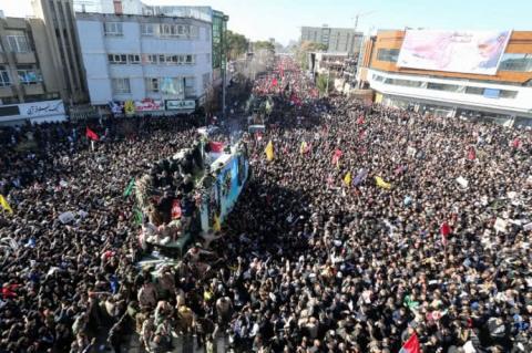 Іран: Через тисняву на похороні Сулеймані загинули 35 людей, майже 50 травмовані