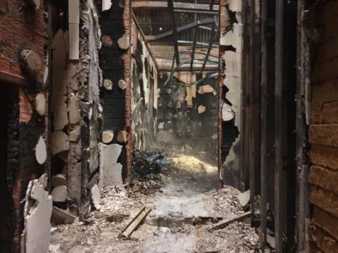 """База парамедиків """"Ангели Тайри"""" згоріла на Донеччині"""