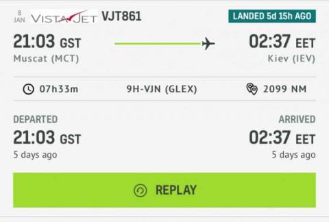 Обмежений повітряний коридор. Літак Медведчука вилетів з Оману на 9 годин раніше Зеленського