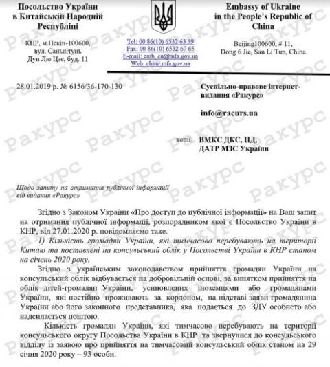 Стало відомо, скільки українців знаходиться у провінції Хубей та місті Ухань