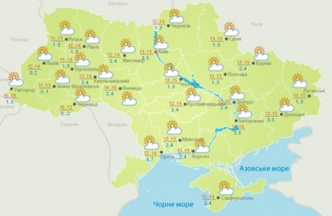До України повертається тепло: вдень до +16