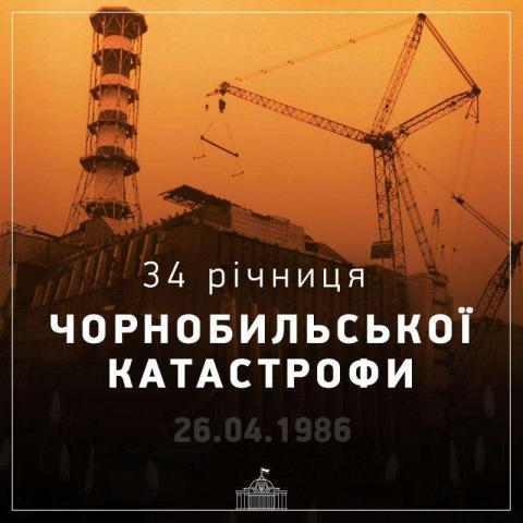 Звернення Голови Верховної Ради України Дмитра Разумкова з нагоди 34-ої річниці Чорнобильської катастрофи