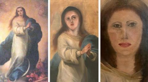 В Іспанії невдалою реставрацією зіпсували чергову картину, цього разу епохи бароко