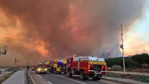 На півдні Франції через лісову пожежу евакуювали близько 2700 людей