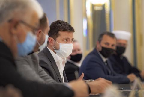 Президент закликав релігійних лідерів Украіни допомогти убезпечити громадян від поширення COVID-19