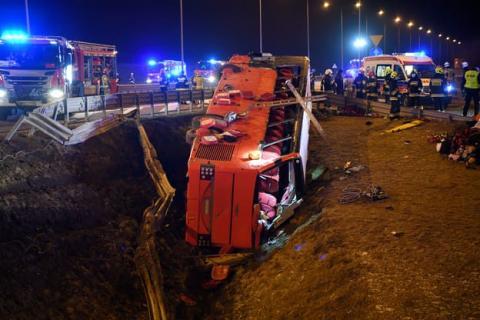 Аварія українського автобуса в Польщі: 26 громадян залишаються у лікарнях