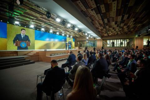 Президент на з'їзді партії «Слуга Народу»: Завжди будемо працювати не для частини суспільства, а на благо всіх громадян України