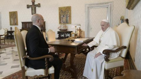 Прем'єр-міністр України зустрівся з Папою Франциском у Ватикані