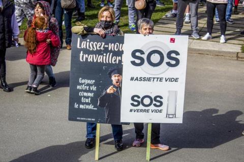 У бельгійському місті 1000 осіб протестували проти карантину