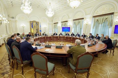 Президент: РНБО розглянула сім питань, зокрема щодо ситуації на Донбасі, запровадження нових санкцій та розробки законопроекту про олігархів