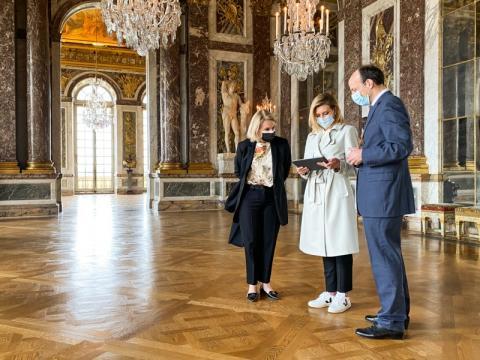 У межах ініціативи Олени Зеленської україномовний аудіогід запрацював у Версалі