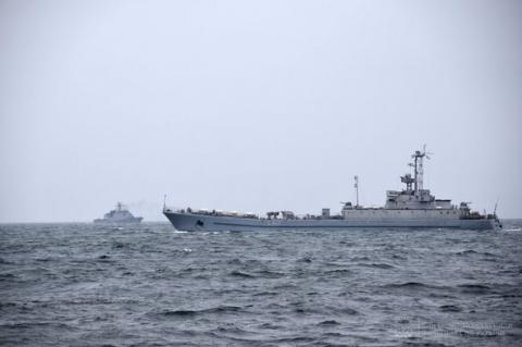 Військові кораблі України та Румунії провели спільні навчання в Чорному морі