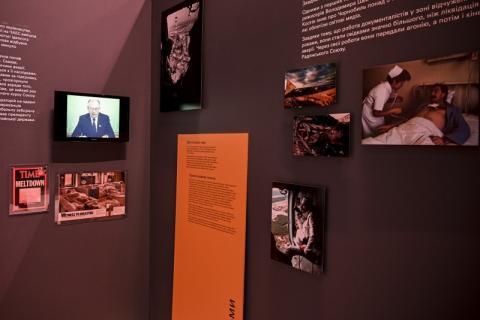 Володимир Зеленський відвідав мультимедійну виставку «Чорнобиль. Подорож», присвячену 35-й річниці аварії на ЧАЕС