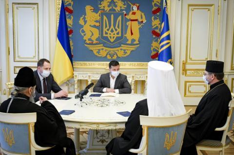 Глава держави провів зустріч з керівниками ПЦУ, УПЦ та УГКЦ напередодні Великодня