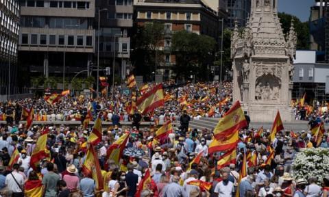 У Мадриді десятки тисяч людей протестували проти помилування каталонських сепаратистів