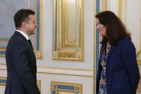 Володимир Зеленський зустрівся з чинною головою ОБСЄ