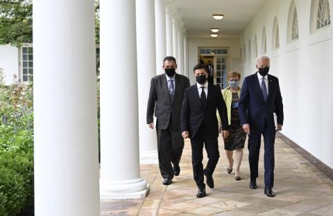 Володимир Зеленський розпочав зустріч з Президентом США Джозефом Байденом у Білому домі: в пріоритеті – безпекові питання