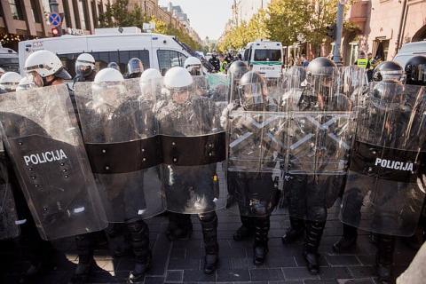 Акція у Вільнюсі: кількість затриманих зросла до 20