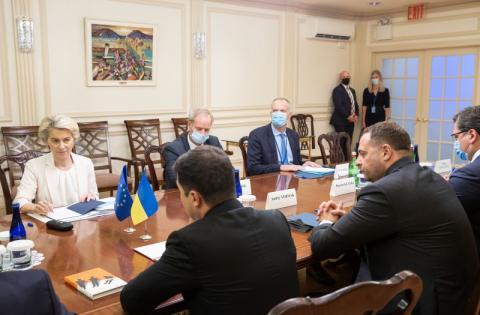 Володимир Зеленський обговорив з Президентом Європейської комісії пріоритети у відносинах України з Євросоюзом у контексті підготовки до 23-го Саміту Україна – ЄС