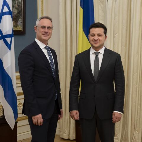 Глава держави прийняв вірчі грамоти в Апостольського нунція, послів Ізраїлю та Латвії