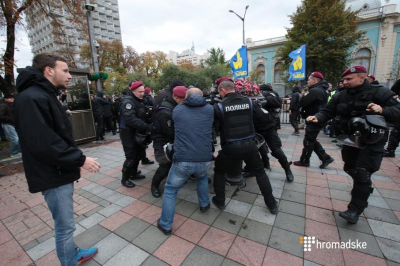 Поліція затримала одного з керівників «Національного корпусу» перед Радою