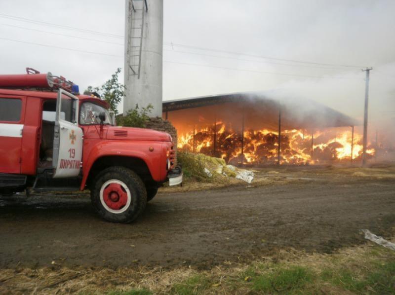 На Полтавщині згоріло 750 тонн сіна та 455 тонн соломи