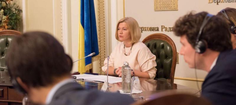 Ірина Геращенко: Ми чекаємо від країн НАТО та ЄС публічного засудження вбивства проросійськими бойовиками цивільного населення на Донбасі та розраховуємо на посилення тиску на РФ задля звільнення заручників та політв'язнів Кремля